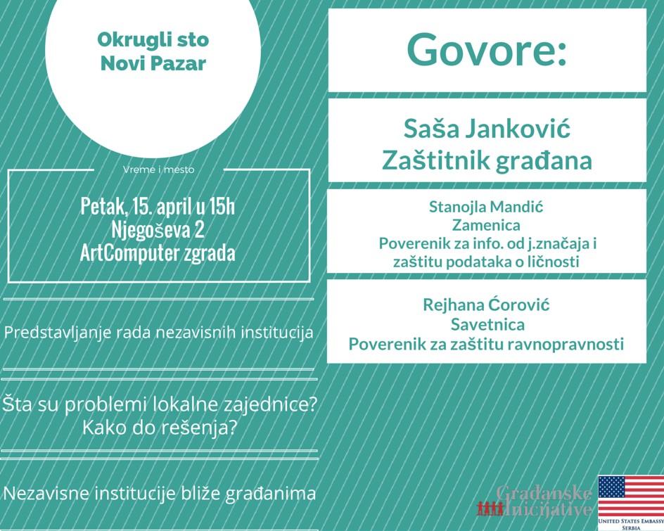 Okrugli sto Novi Pazar 15.04.2016